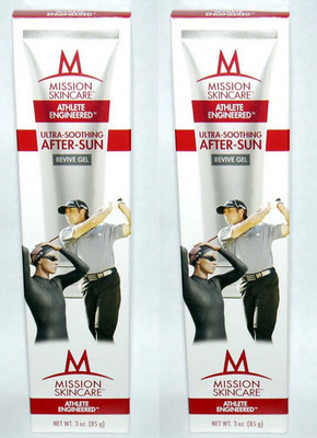 2 MISSION Skincare Athlete Engineered Ultra-Soothing After-Sun Revive Gel 3 oz