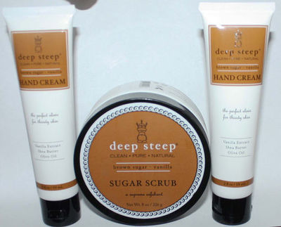 2 Deep Steep Brown Sugar * Vanilla Hand Creams & 1 Sugar Scrub