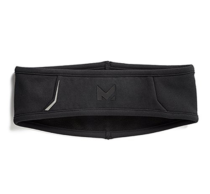 Mission RadiantActive Outdoor Training and Running Black Performance Headband 14050