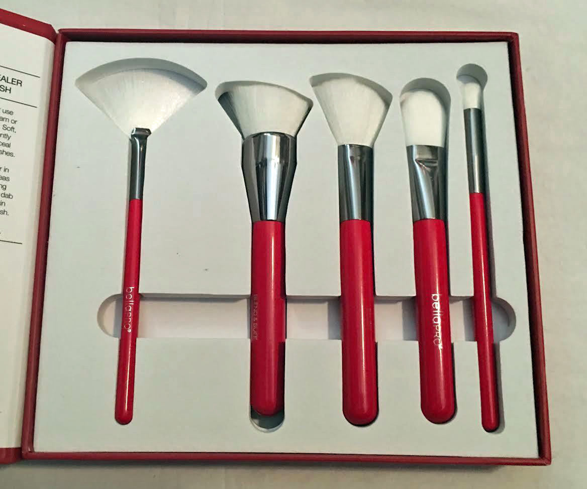 Bella Pro Signature Five Red Contour Brush Set