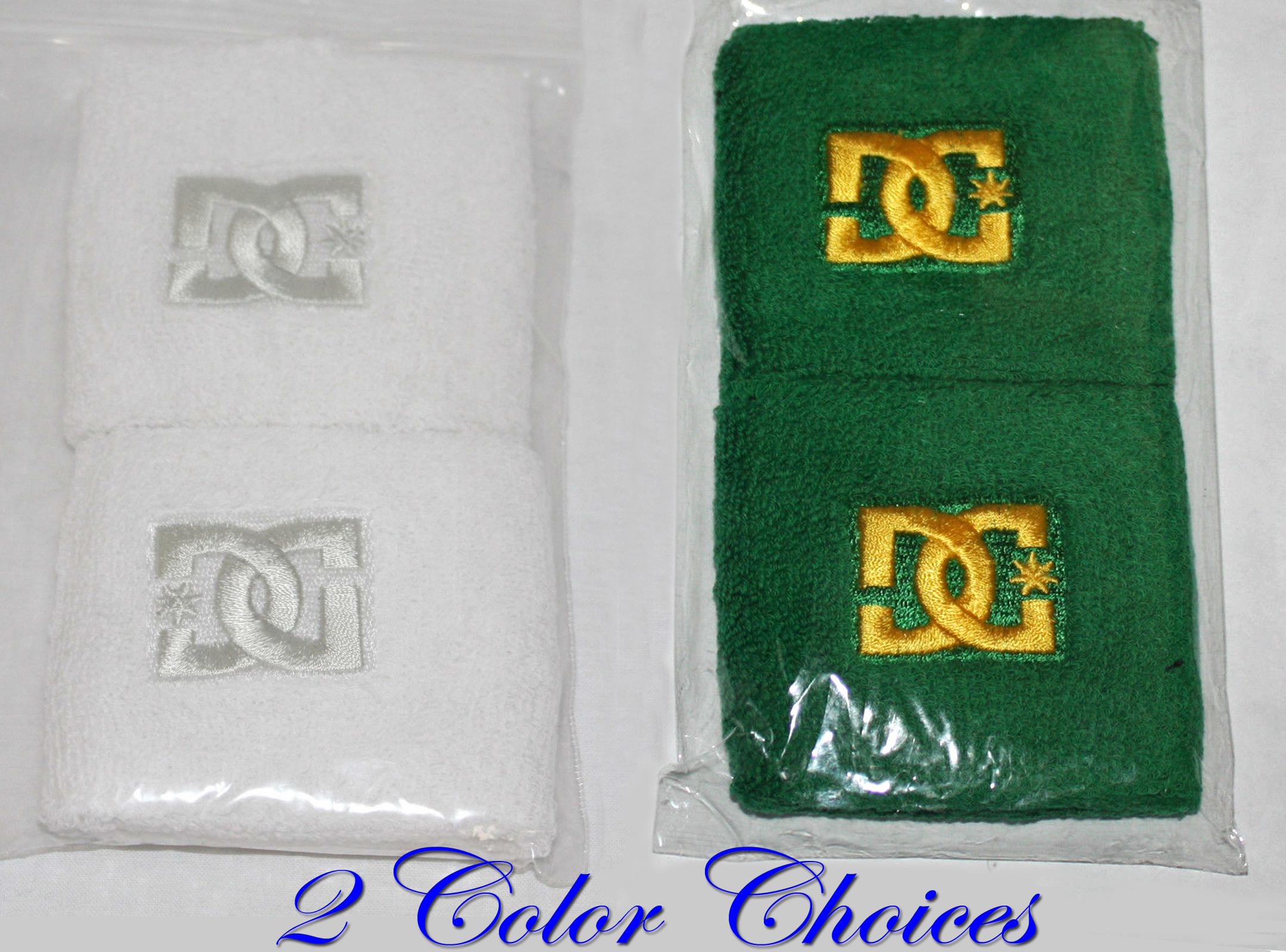 """2Pk DC Unisex 2 ¾"""" Wristbands (Color Choices) 14144"""