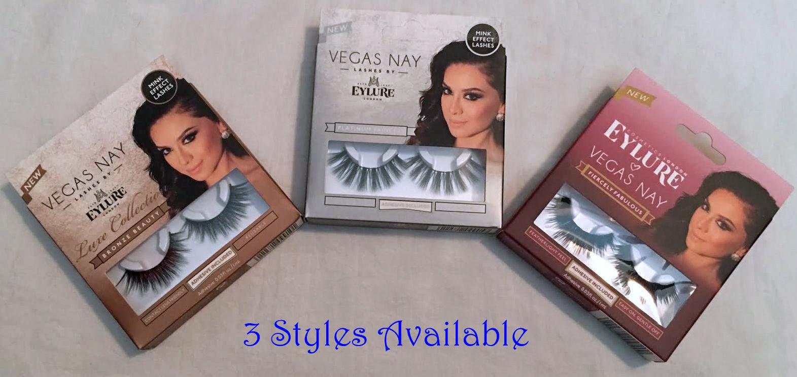 Eylure London Vegas Nay Re-Usable False Eye Lashes + Adhesive -3 styles availabe 14232
