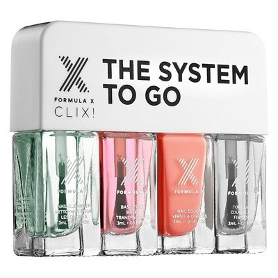 Formula X CLIX! ALIVE The System To Go Mini Nail Polish Set 4 x 0.1 oz