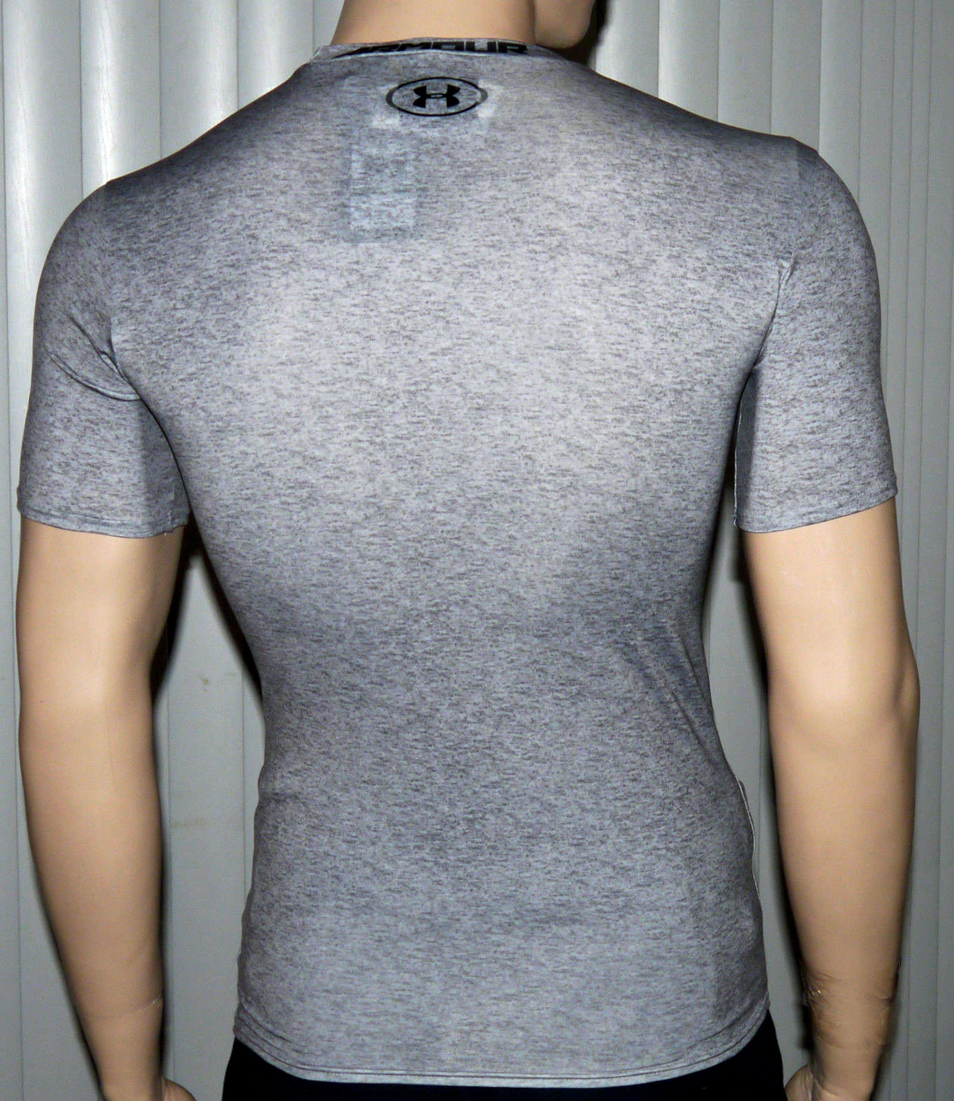 Under Armour Men's UA Freedom Army Gray Heather/Black Compression Shirt (Several Sizes)