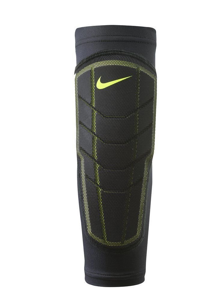 Nike Pro Combat Black/Volt Swoosh Hyperstrong Padded Forearm Shivers - Large/X-Large 14499