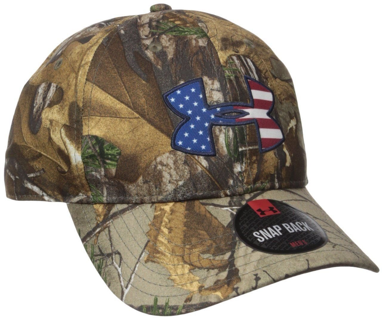 Under Armour Men's Realtree Ap-Xtra/Americana UA Big Logo 2.0 Camo Cap 14541