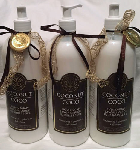 Lot of 3 Erbario Toscano Coconut Moisturizing Liquid Soap 33.81 oz Each 14548