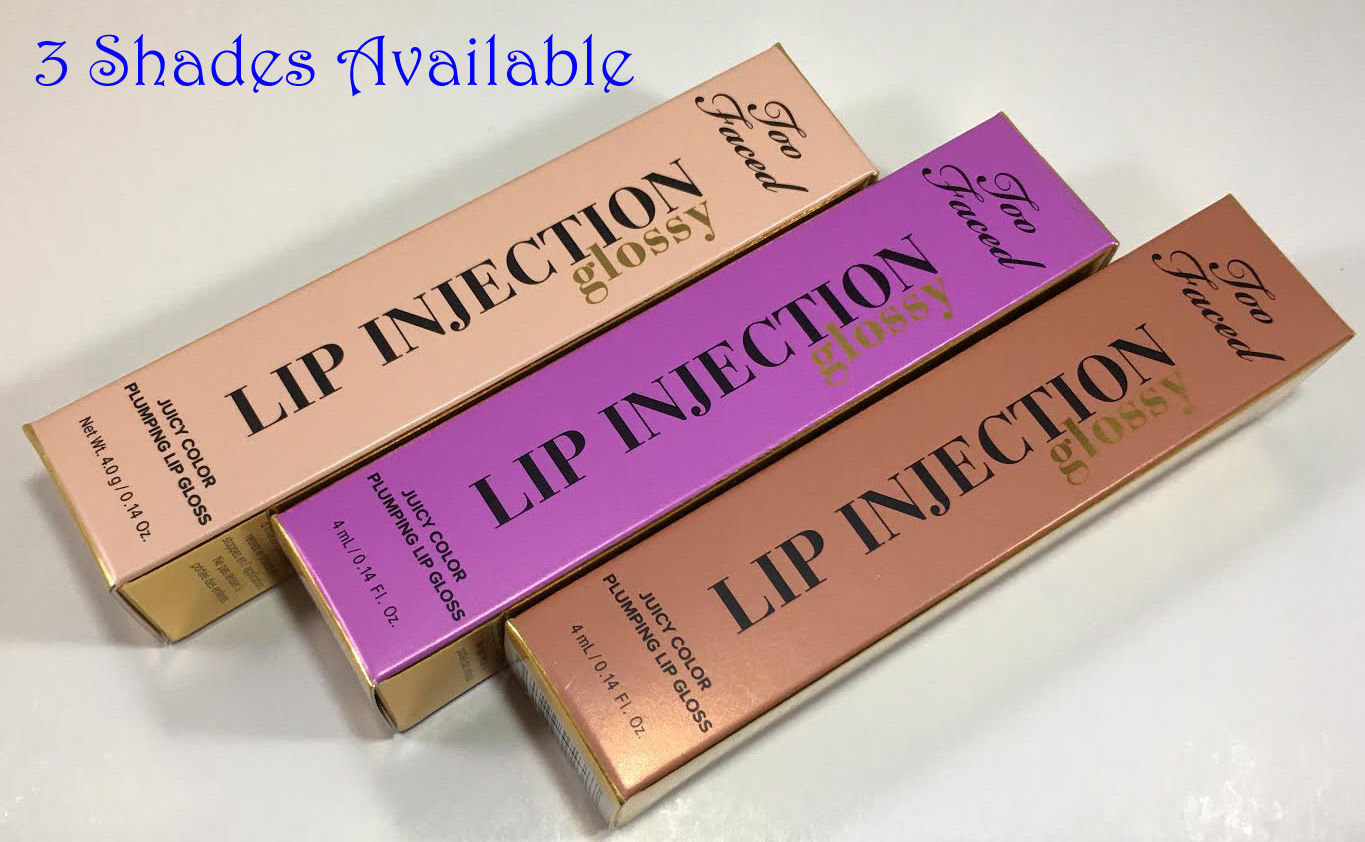 Too Faced Glossy Lip Injection Juicy Color Plumping Lip Gloss 0.14 oz 14556