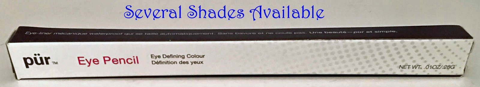 Pur Minerals Eye Defining Eye Pencil with Smudge Tip .01 oz (Several Shades) 14571