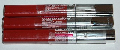 Lot Of 3 Maybelline Colorsensational Lip Gloss .23 oz Each (Several Shades)
