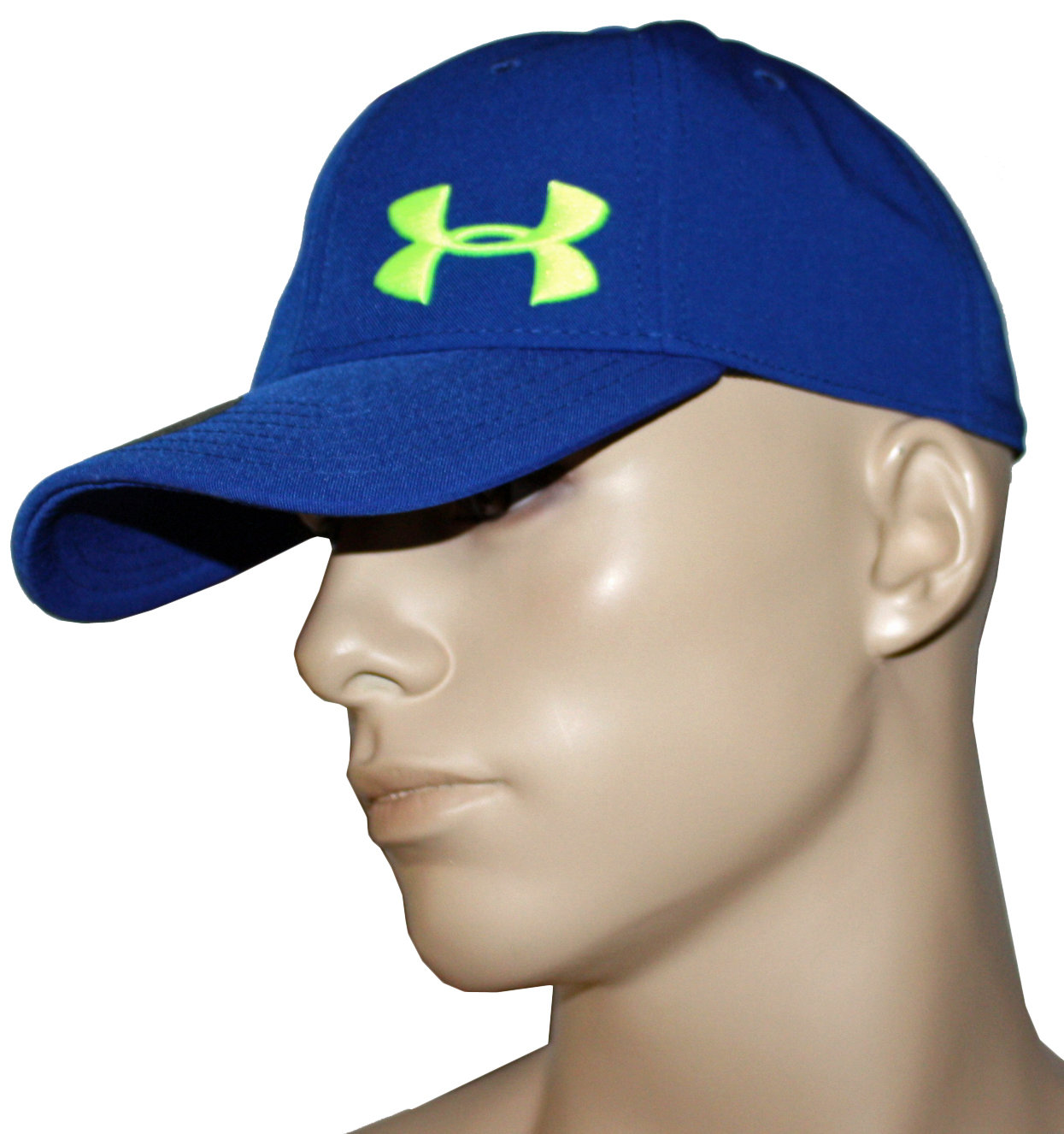 Under Armour Men's Royal Blue/High Vis Yellow UA Adjustable Hat 14637