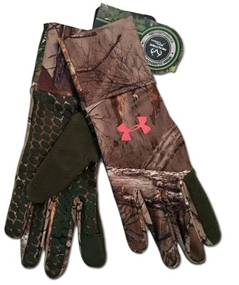 Under Armour Women's Realtree AP-Xtra/Rifle Green/Perfection UA Gloves -X-Large