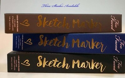 Too Faced Sketch Marker Liquid Art Waterproof Eyeliner 0.015 oz  -Deep Navy Blue