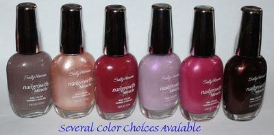 Sally Hansen Nailgrowth Miracle Nail Color Polish Lacquer 0.45 oz