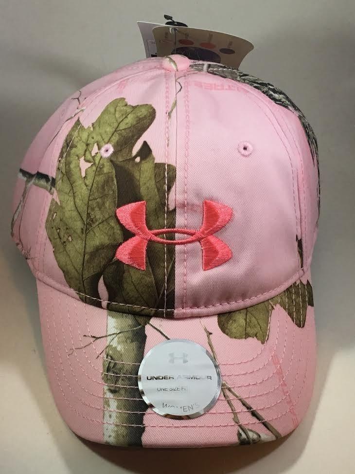Under Armour Women's Pink Realtree AP Camo/Perfection UA Snap Back Cap