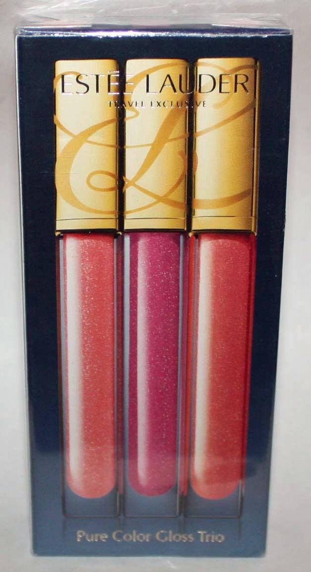 Estee Lauder 3 Pure Color Lip Gloss Trio Rock Candy/Wild Lilac/Sun Burst .2oz