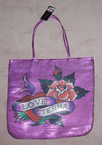 Ed Hardy FRANCESCA Sequin LOVE ETERNAL Tote Bag (Several Choices) *Reduced*