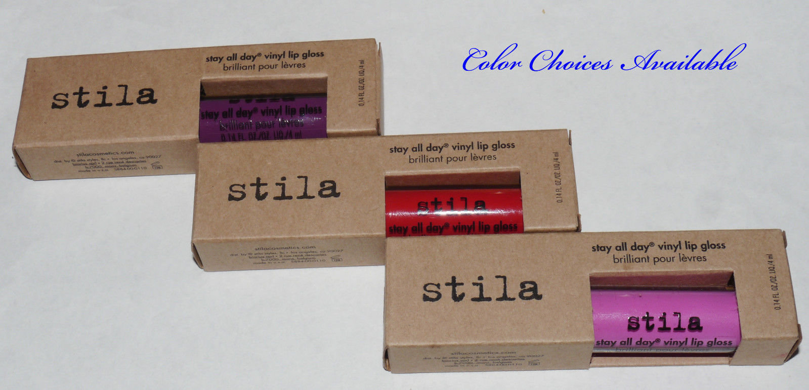 Stila Stay All Day Vinyl Lip Gloss 0.14 oz -Several Shades 14728