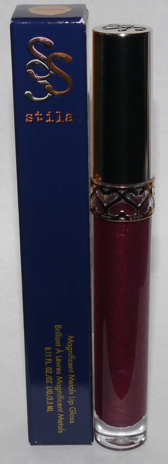 Stila Magnificent Metals Lip Gloss 0.11 oz -Garnet 14537