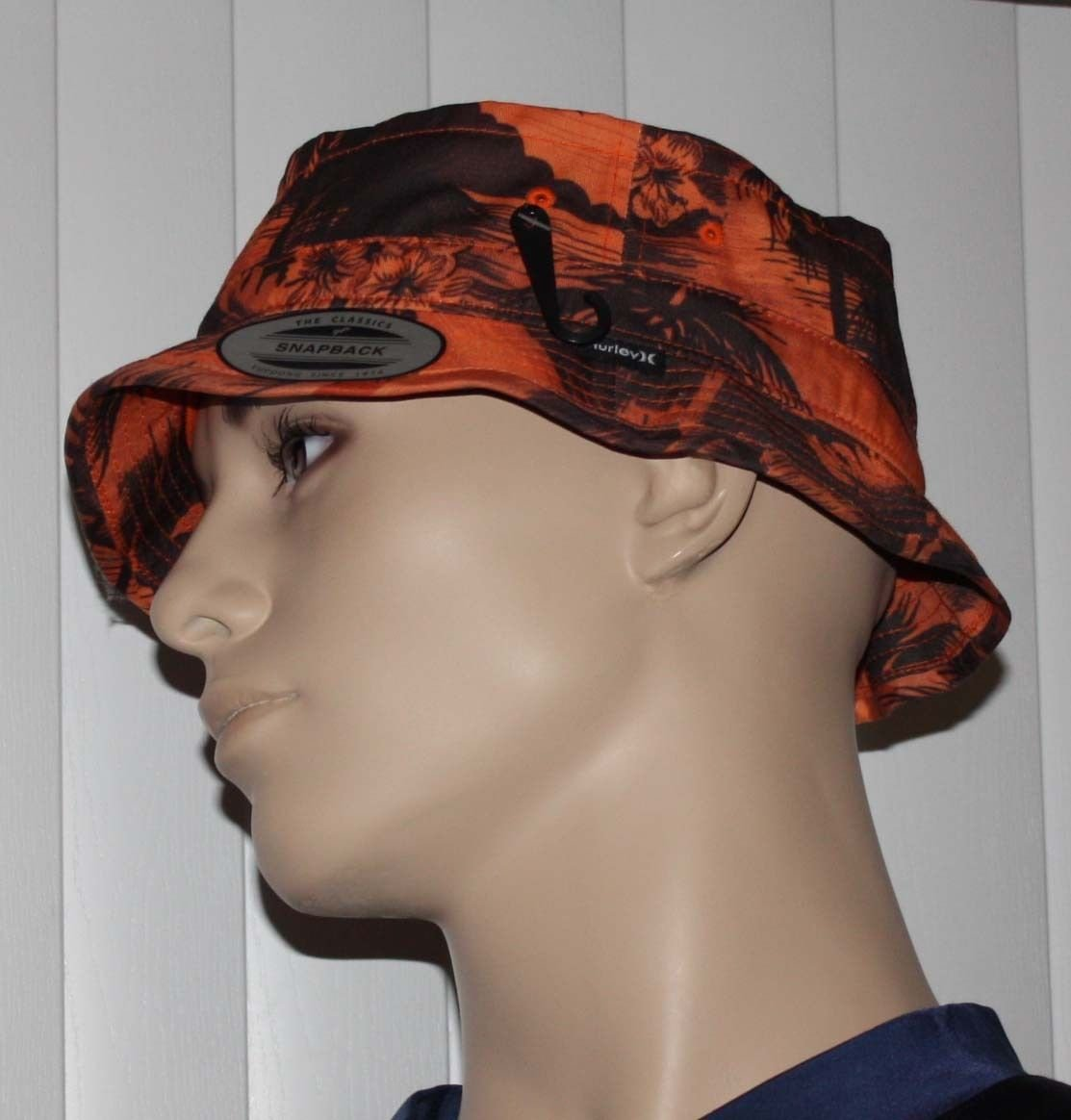 Hurley SHORE CRUISER Men's Orange/Brown Beach Graphics Bucket Hat 14776