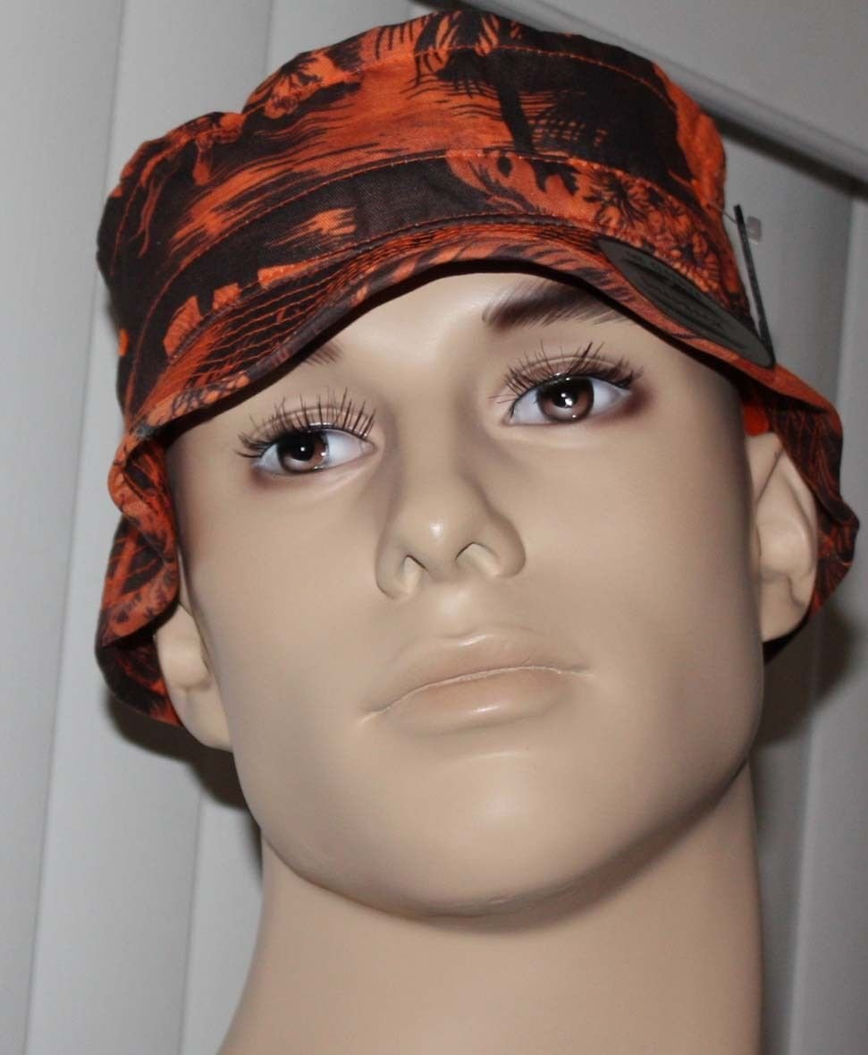 Hurley SHORE CRUISER Men's Orange/Brown Beach Graphics Bucket Hat