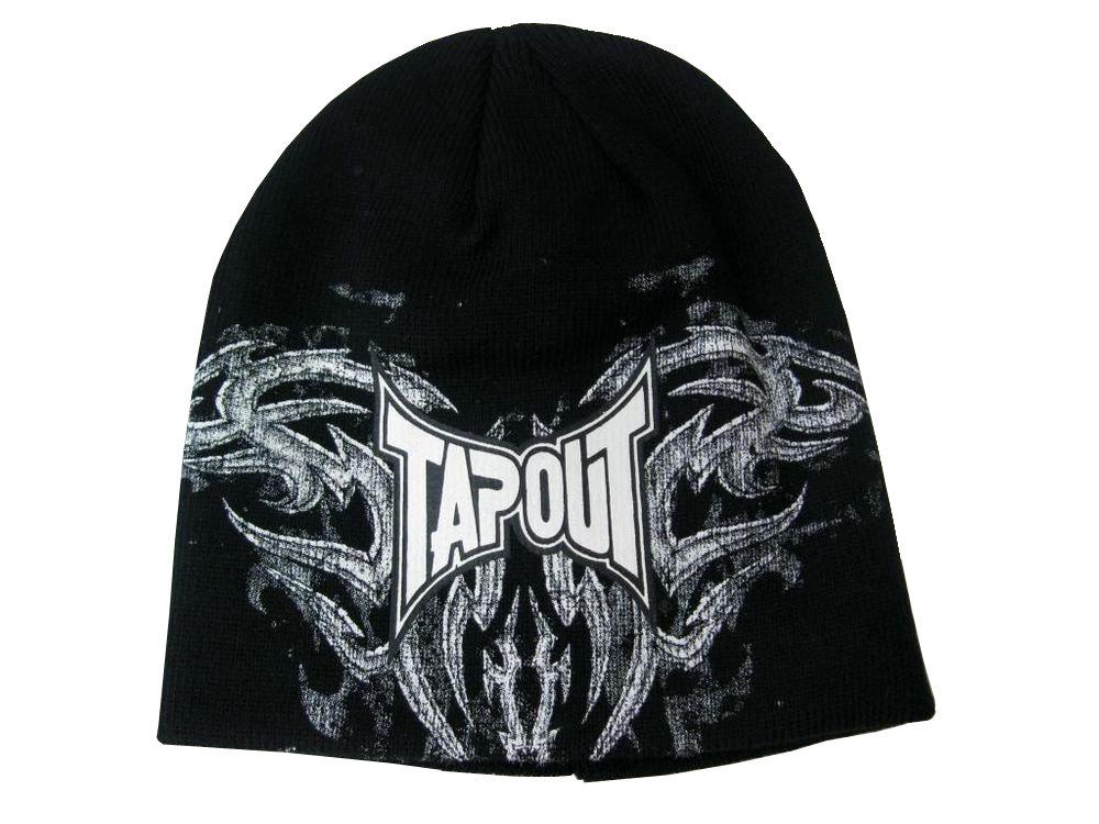 Tapout Corruption Logo Black/White Graphic Beanie Hat 14798