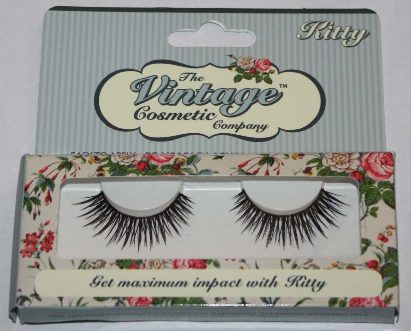 The Vintage Cosmetic Company KITTY Re-Usable False Eye Lashes 14811