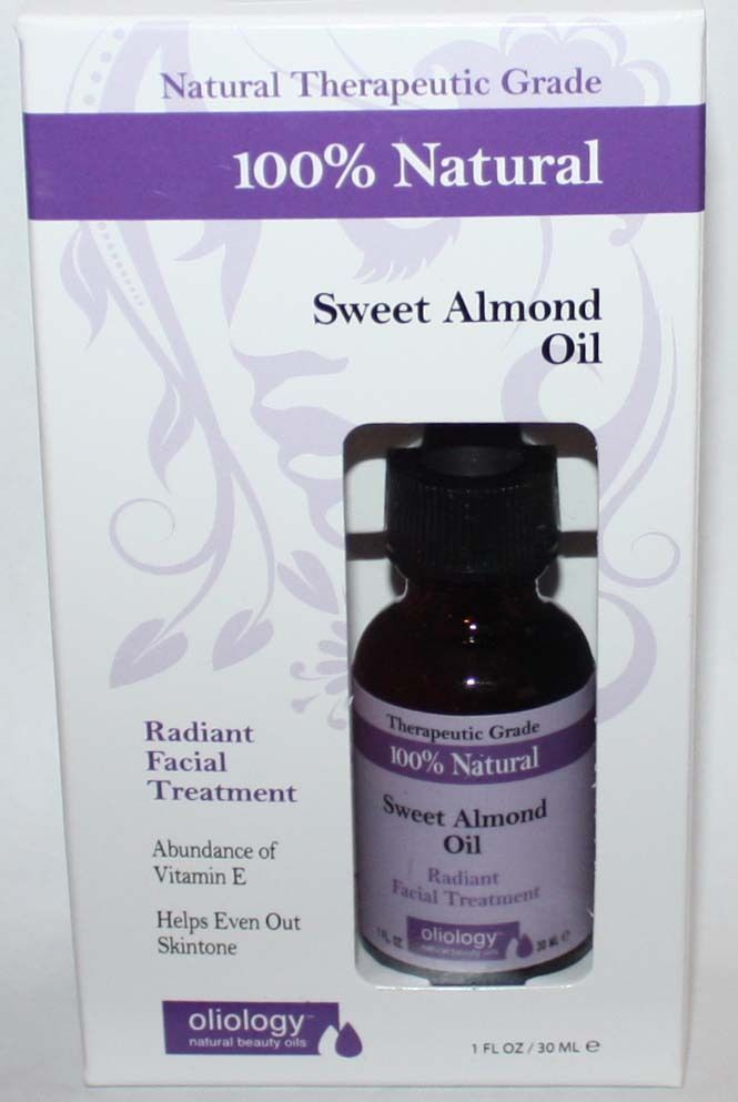Oliology 100% Natural Sweet Almond Oil Radiant Facial Treatment 1 oz 10511