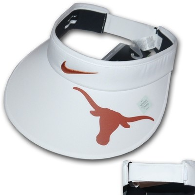 Nike Golf Women's Big Bill White/Burnt Orange TEXAS LONGHORNS Tech Visor