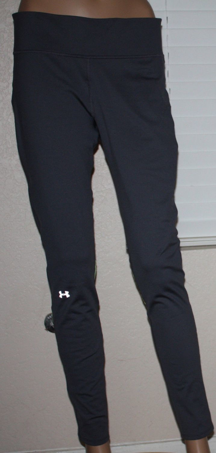 Under Armour RUNNING Fly By Lead/High Vis Yellow Compression Pants (Large)
