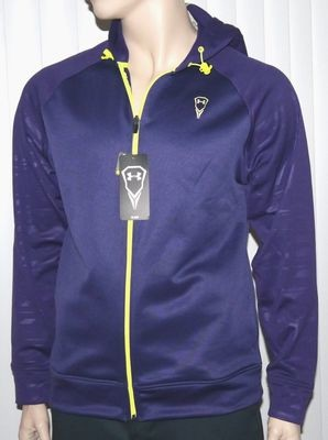 Under Armour Men's Loose Fit Purple Pride/Vis Yellow Hooded Jacket -Medium