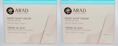 Lot 2 ARAD Natural Beauty Night Sleep Cream For Very Dry Skin 1.7 oz Each