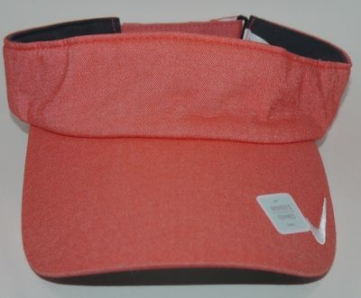Nike Golf Women's Light Crimson/White Swoosh Adjustable Seasonal Visor