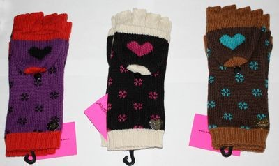 Betsey Johnson Women's Fingerless Versatile Texting Mittens Gloves