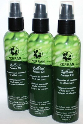 Lot Of 3 Zerran RealLisse Amazon Oil Styling Hair Treatment 4 oz Each *Reduced*