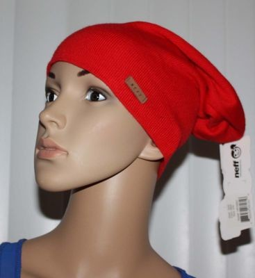 Neff SAG Women's Red Slouchy Fit Beanie Hat (One Size)
