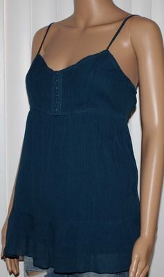 American Eagle Women's Slate Blue Crepe Cami Top (Small)