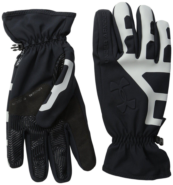 Under Armour Men's Black/Gray Storm Stealth CGI Warmest Tech Touch Gloves -Medium
