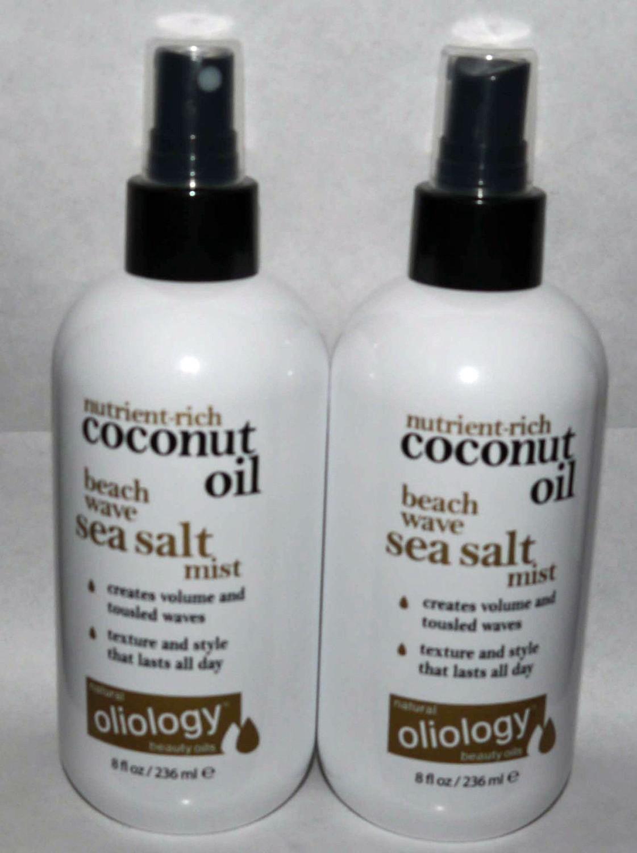 Lot Of 2 Oliology Nutrient-Rich Coconut Oil Beach Wave Sea Salt Mist 8 oz Each