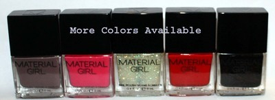 Material Girl Nail Polish Lacquer .4 oz  (Several Colors) *Reduced*