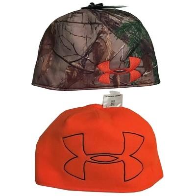 Under Armour Men's Realtree AP-Xtra Camo/Blaze Orange Reversible Beanie -Small/Medium