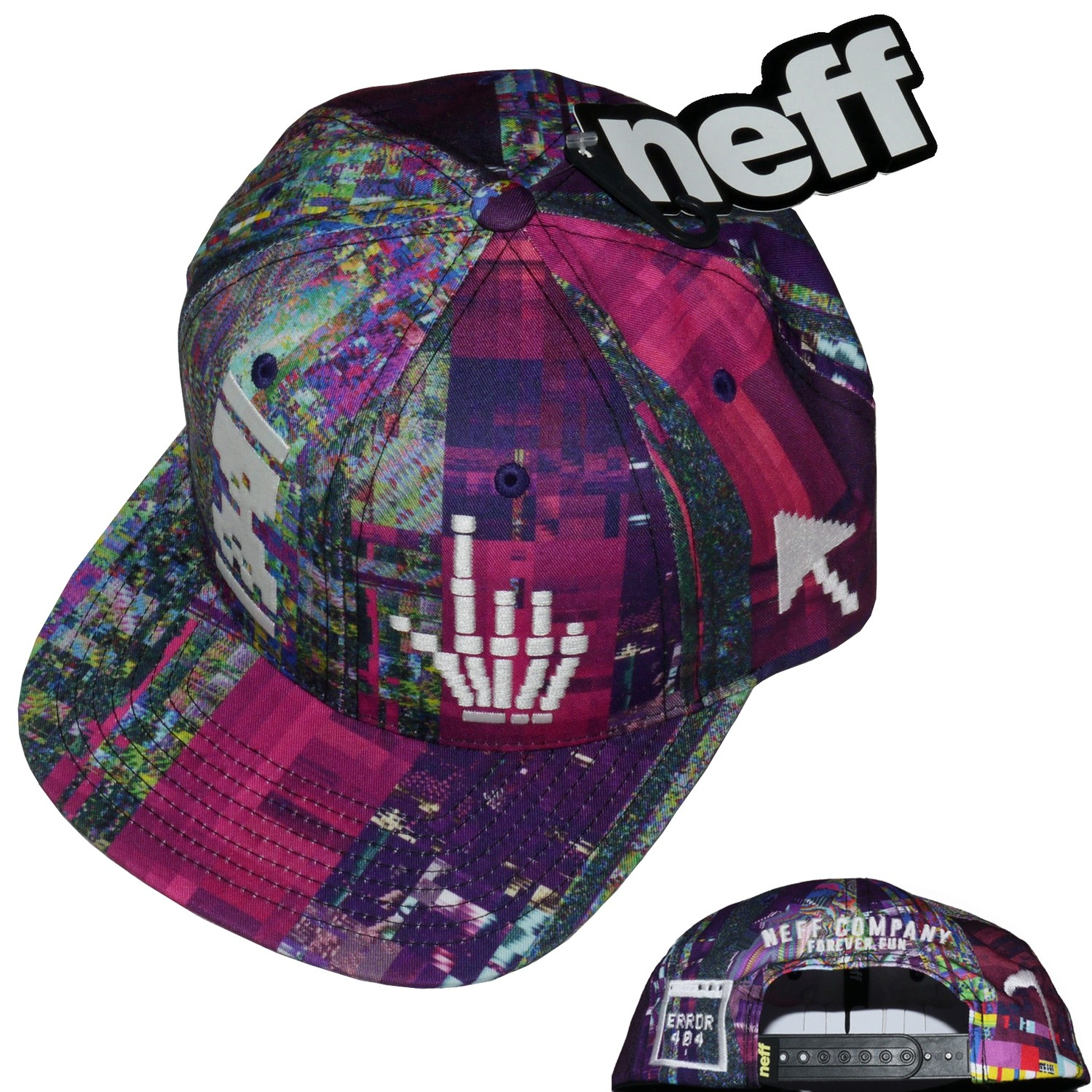 Neff Death Of The Internet Cap 6 Panel Snap Back Graphic Cap Hat