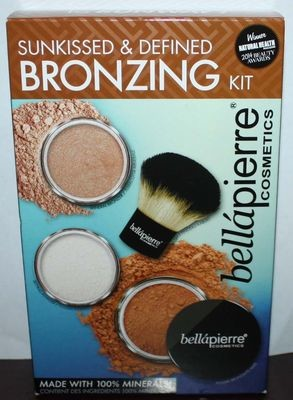 Bella Pierre Sunkissed & Defined Bronzing Kit *Bronzers/Powder/Kabuki Brush