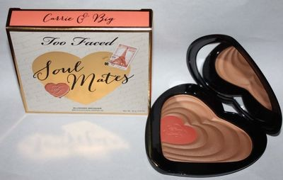 Too Faced SOUL MATES Carrie & Big Blushing Bronzer Duo 0.6 oz (Light to Medium​)