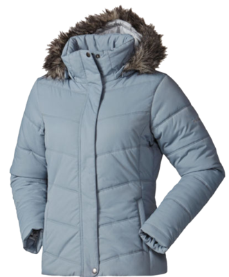 Columbia Women's Simply Snowy Insulated Faux Fur Hooded Jacket -Grey (Medium)