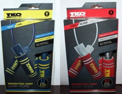 TKO 9ft Weighted Grip Cardio Jump Rope (Several Colors)