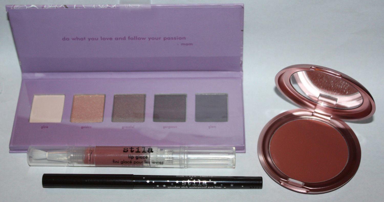 Stila Garden of Glamour Set Shadow Palette/Lip Glaze/Eyeliner/Lip & Cheek Cream
