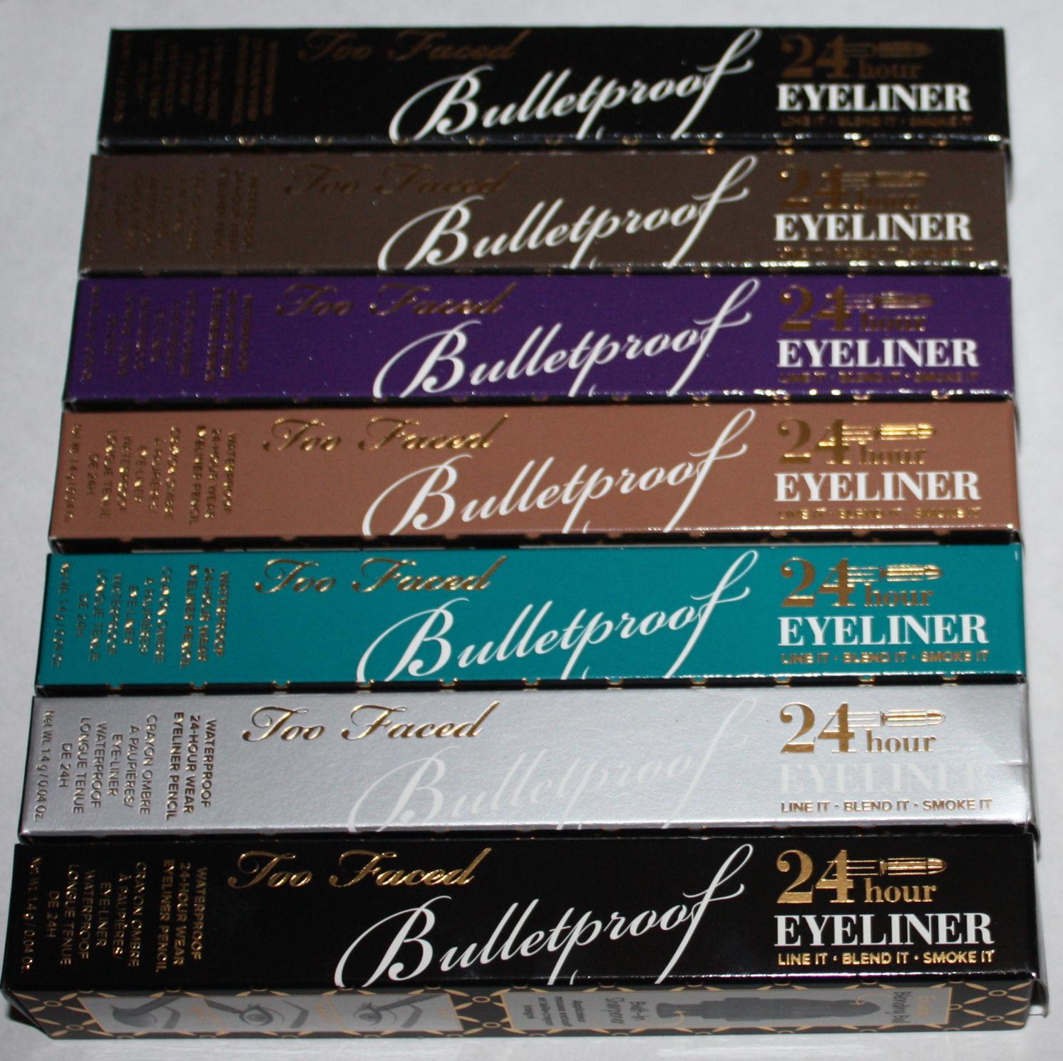 Too Faced Bulletproof Waterproof 24 Hour Eyeliner Pencil 0.04 oz (Several Shades)