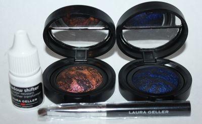 Laura Geller DUSK TO DAWN Dazzle 2 Eye Rimz Eyeliners/Brush/Shadow Shifter Set