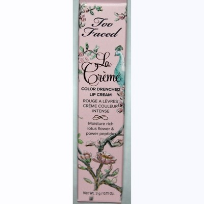 Too Faced La Creme Color Drenched Lipstick Cream - Bon Bon 0.11 oz
